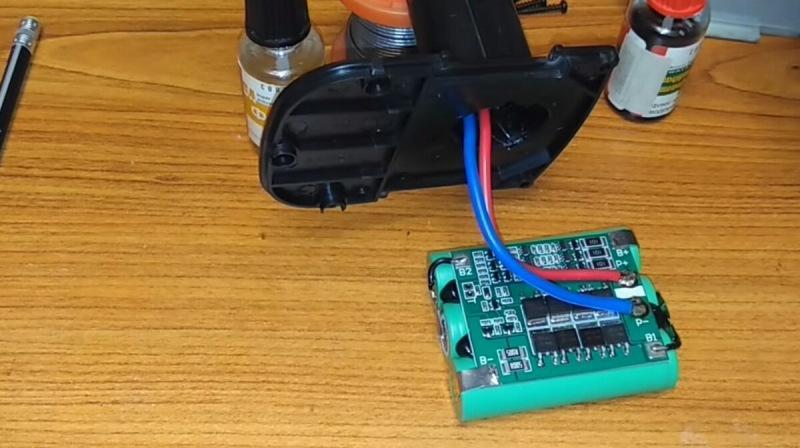 Переделка шуруповёрта на литиевые аккумуляторы 18650