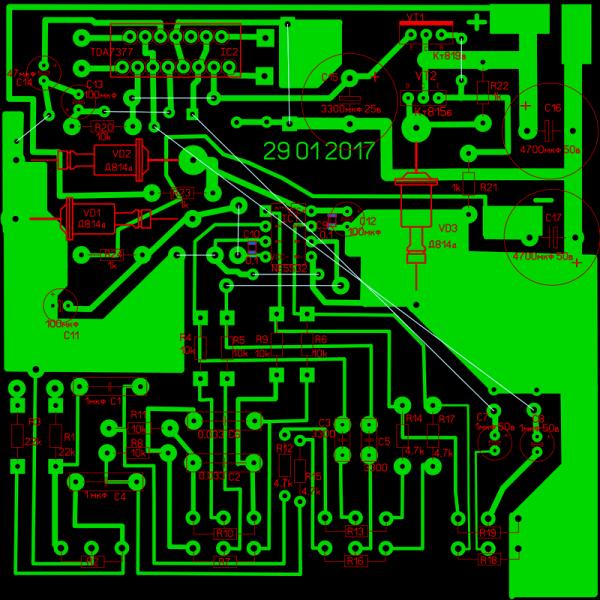 Усилитель низкой частоты на TDA7377 и NE5532.