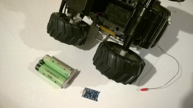 Переделка радиоуправляемой машинки на Li-ion аккумуляторы 18650